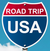 Road Trip USA Sign W Logo